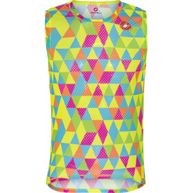 Castelli Pro Mesh Sleeveless Baselayer Jersey Herre multicolor fluo